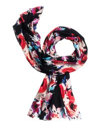 kate spade new york | Red Hazy Floral Oblong Scarf | Lyst