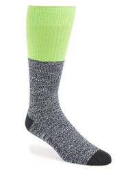 Mr Gray | Yellow Textile Colorblock Socks | Lyst