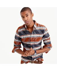 J.Crew | Multicolor Slim Southwest Jacquard Flannel for Men | Lyst