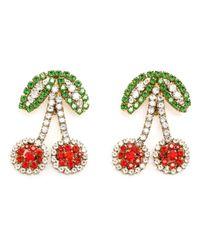 Shourouk | Green 'Cherry' Clip-On Earrings | Lyst