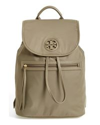 Tory Burch - Brown Nylon Backpack - Lyst