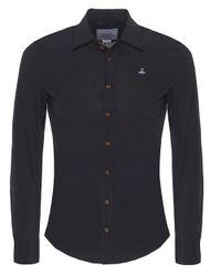 Vivienne Westwood | Black One Button Orb Shirt for Men | Lyst