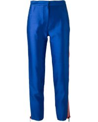 House of Holland - Blue Cigarette Trouser - Lyst