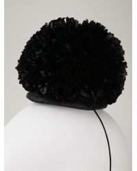 Federica Moretti - Black Pom Pom Head Band - Lyst