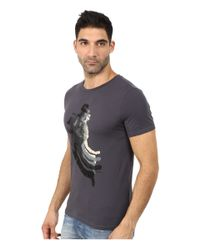 BOSS Orange | Blue Tripolo 3 Washed Single Jersey Graphic Tee for Men | Lyst
