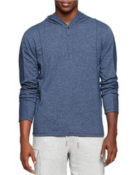 Calvin Klein Jeans | Blue Heathered Cotton Hoodie for Men | Lyst