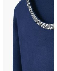 Violeta by Mango - Blue Bead Sweater - Lyst