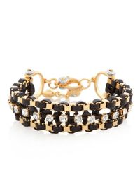 Henri Bendel | Black Delicate Crystal Girlfriend Bracelet | Lyst