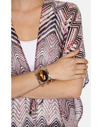 Karen Millen | Brown Tigers Eye Cuff | Lyst