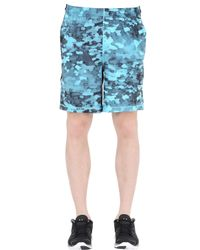 "Under Armour - Blue 8"" Raid Printed Training Short for Men - Lyst"