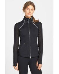 Zella - Black 'Luxe' Mesh Jacket - Lyst