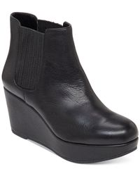 BCBGeneration | Black Karol Platform Wedge Booties | Lyst