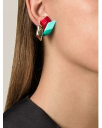 Silvia Rossi | Green 'orchid' Earrings | Lyst