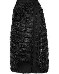 Chalayan | Black Fil Coupé Cotton-poplin Midi Skirt | Lyst