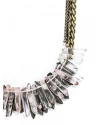 BaubleBar - Metallic Pink Lady Collar - Lyst