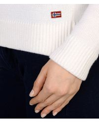 Napapijri | White Sweater | Lyst