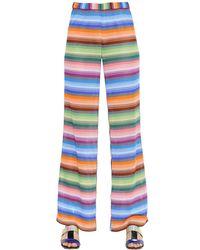 Missoni - Multicolor Striped Viscose Knit Pants - Lyst