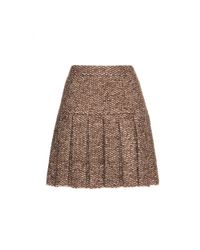 Dolce & Gabbana - Brown Tweed-effect Knit Skirt - Lyst