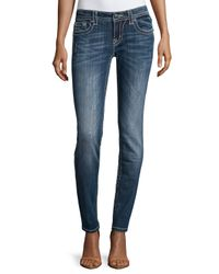 Miss Me - Blue Distressed Signature-rise Skinny Jeans - Lyst