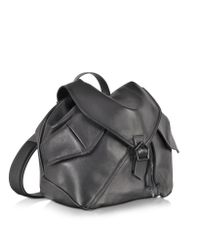 Carven | Plain Black Leather Backpack | Lyst