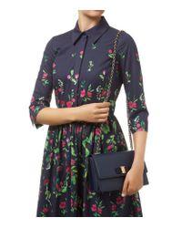 Ferragamo - Blue Medium Ginny Shoulder Bag - Lyst
