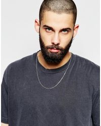 ASOS - Metallic Sterling Silver Necklace for Men - Lyst