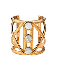 Asha | Metallic Capote Cuff, Mother Of Pearl | Lyst