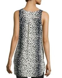 Vince - Multicolor Leopard-Print V-Neck Top - Lyst