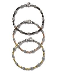 "Officina Bernardi | White ""Moon Bead"" Bracelet 
