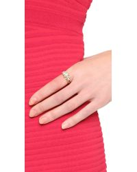 Elizabeth Cole | Metallic Crystal Band Ring | Lyst