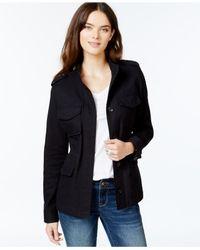 Lucky Brand - Black Plaid Contrast Jacket - Lyst