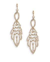 ABS By Allen Schwartz | Metallic Rhinestone Chandelier Earrings | Lyst