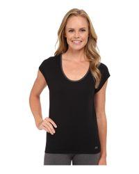 Asics | Gray Studio Fit Sana Reversible Short Sleeve Top | Lyst