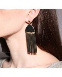 Lele Sadoughi   Metallic Comb Tassel Earrings   Lyst