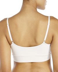 Yummie By Heather Thomson - White Simply Modern Fit Claudette Surplice Cami Bra - Lyst
