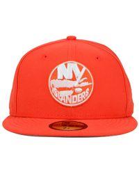 KTZ | Orange New York Islanders C-dub 59fifty Cap for Men | Lyst