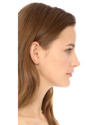 EF Collection - Pink Diamond Jumbo Bar Ear Crawler - Clear/Rose Gold - Lyst
