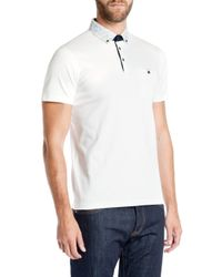 Ted Baker | White Allfor Floral Print Collar Polo Shirt for Men | Lyst