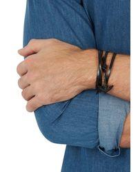 Miansai | Black Leather Anchor Wrap Bracelet for Men | Lyst