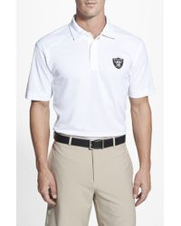 Cutter & Buck | White 'oakland Raiders - Genre' Drytec Moisture Wicking Polo for Men | Lyst