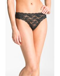 DKNY | Pink 'signature Lace' Thong | Lyst