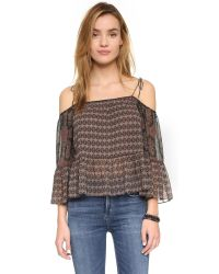 Twelfth Street Cynthia Vincent - Multicolor Print Off Shoulder Blouse - Foulard - Lyst