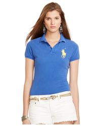 Polo Ralph Lauren | Blue Sim-fit Big-pony Polo Shirt | Lyst
