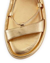 Diane von Furstenberg - Susie Metallic Leather Sandal - Lyst