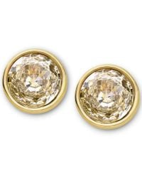 Michael Kors - Metallic Brilliance Gold Clear Crystal Studs - Lyst