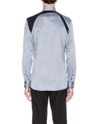 Alexander McQueen - Blue Mens Harness Cotton Shirt - Lyst