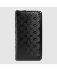 907115c0848fa0 Lyst - Gucci Gg Imprimé Document Case in Black