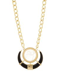 Fragments | Black Golden Door-knocker Pendant Necklace | Lyst