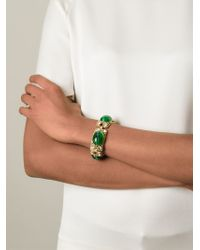 Moschino | Metallic Cabochon Bracelet | Lyst
