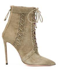 Oscar Tiye - Green Samira Lace-Up Suede Boots - Lyst